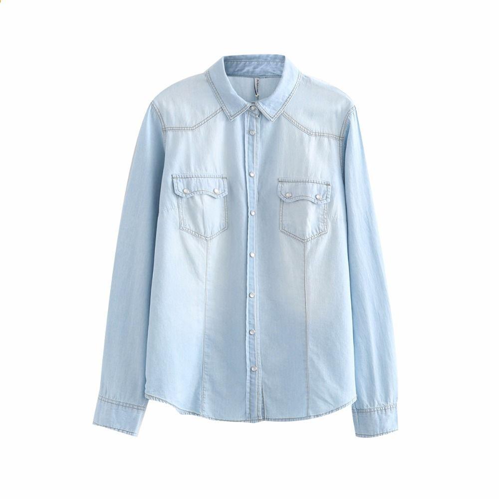 brand new c2204 acb7e Camicia di jeans da donna Camicie di jeans per le donne ...