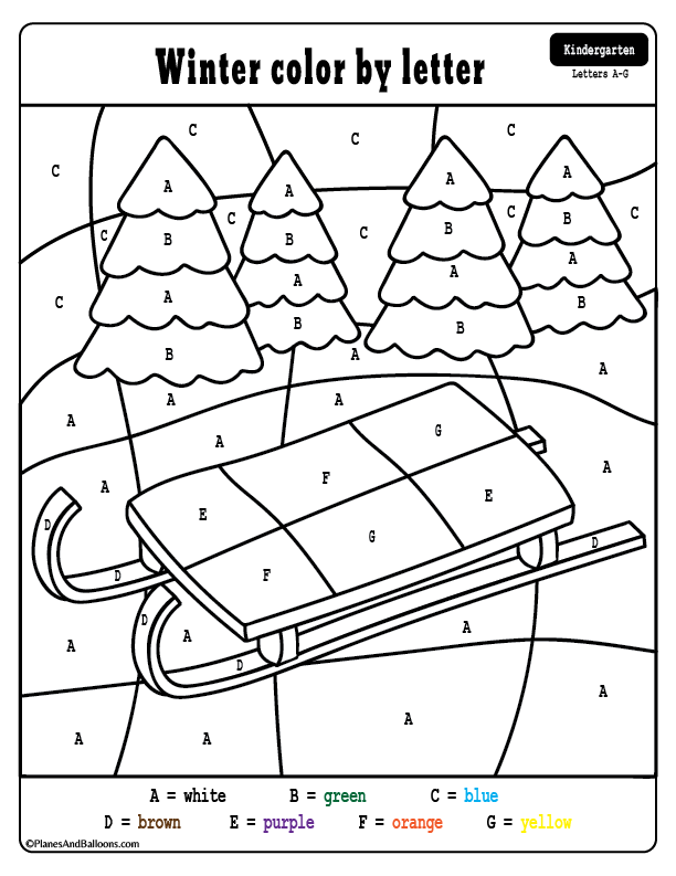Winter Coloring By Number Pages For Kids Novocom Top