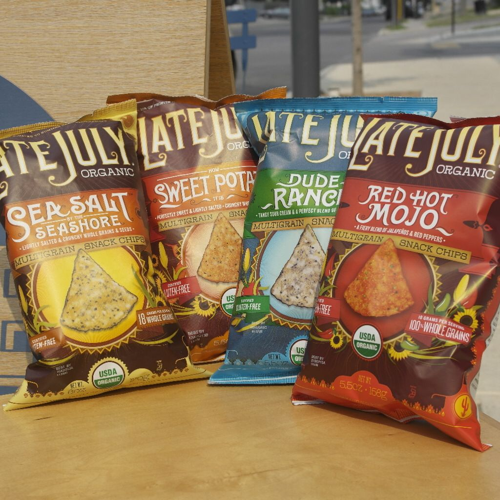 We've got these uncommonly addictive Late July Organic Snacks in assorted flavors. Oh the choices...