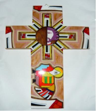 Cruz para pared madera de pino acabada en poliester for Pintura para madera