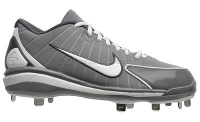 New NIKE Air Huarache 2K4 Low Mens Metal Baseball Cleats - Gray / White