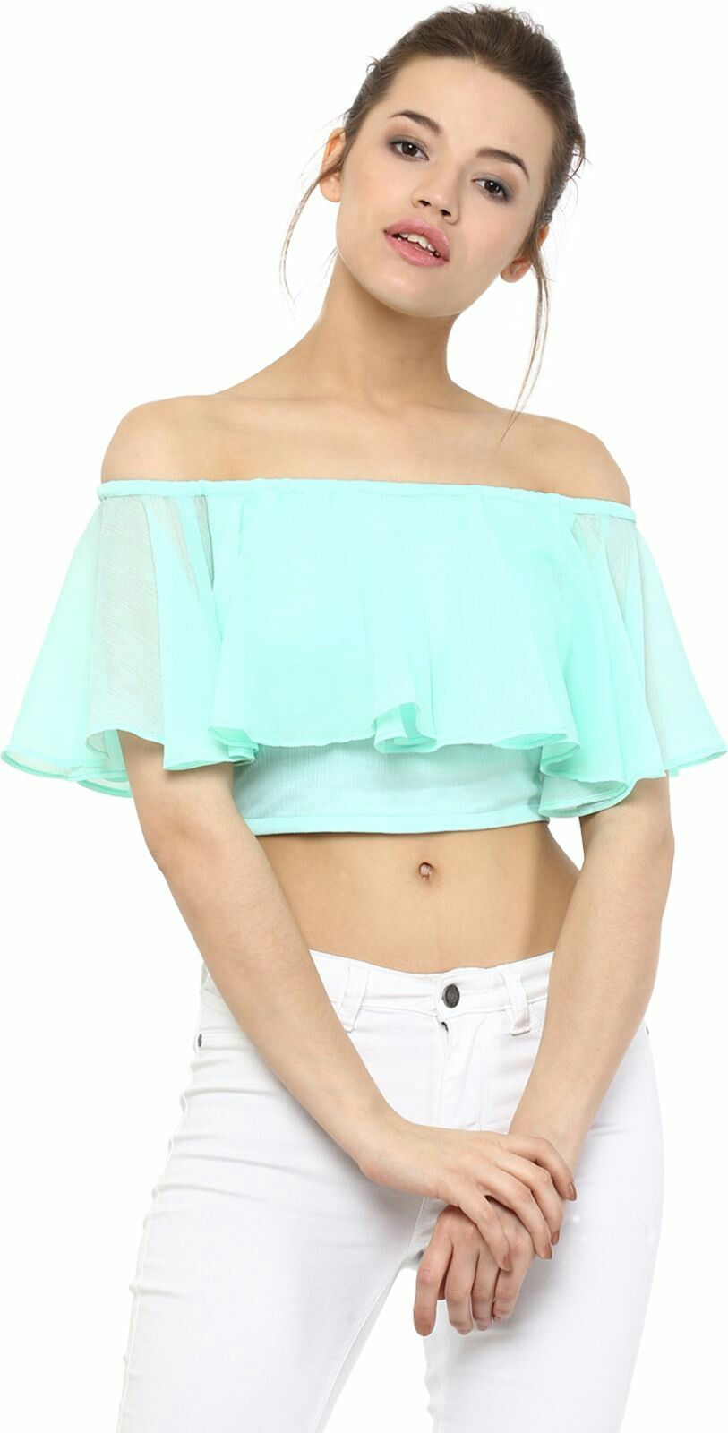 fb172d1710fe0c Light Aqua Off shoulder top