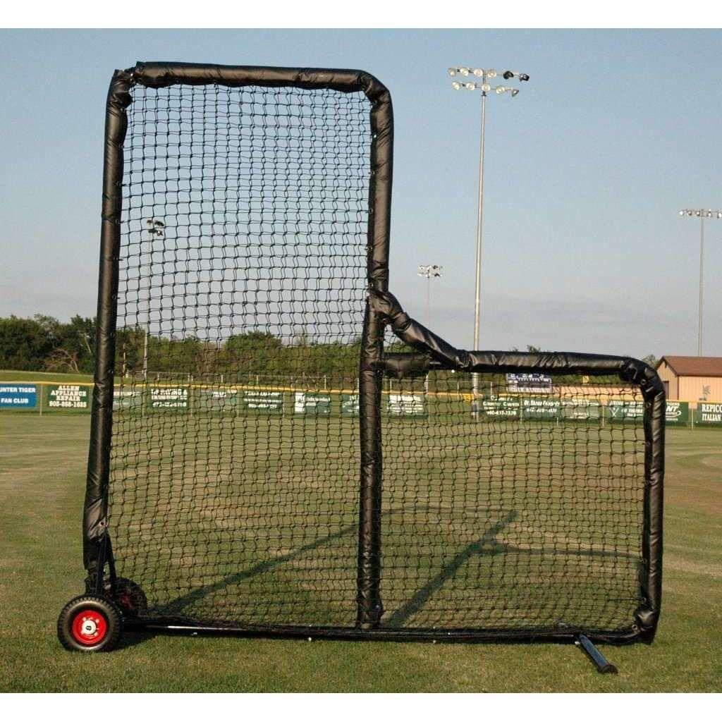 Kodiak Sports 8 X 8 Pro Padded Wheeled L Screen Softball Pitching Machine Batting Tee