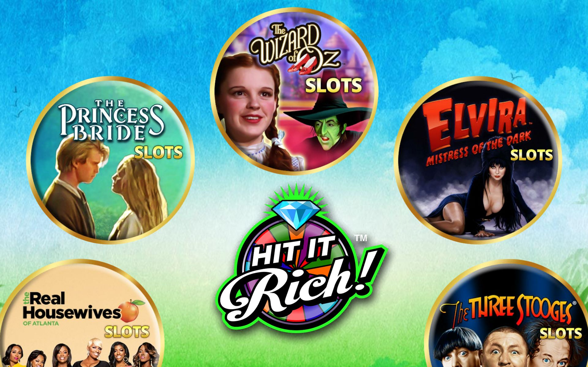 Hit it rich It is a hub for different kinds of slots.