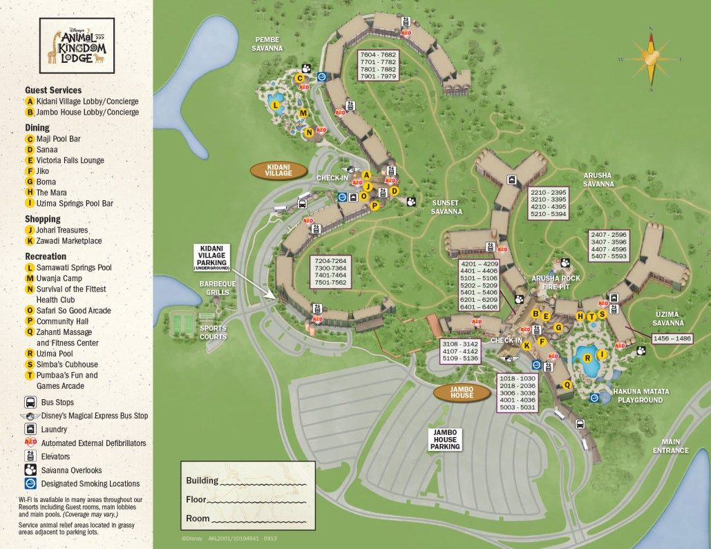 Animal Kindom Lodge Jambo House Resort Map in 2018 | Disney December ...