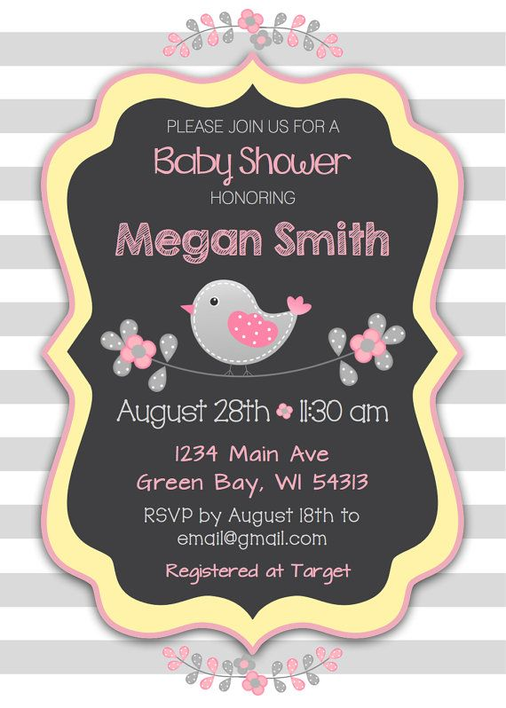 Custom baby shower invitation girl pink by bettyscustomsigns cute custom baby shower invitation girl pink by bettyscustomsigns filmwisefo