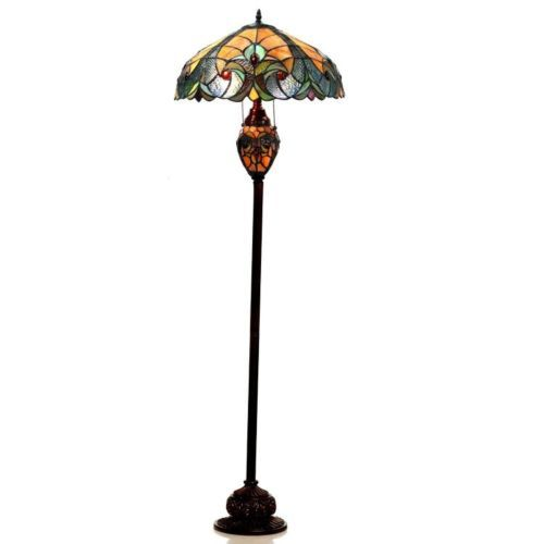 Tiffany Floor Lamp New Tiffanyfloorlampstainedcutglassvintageantiquevictorianhome Decorating Inspiration