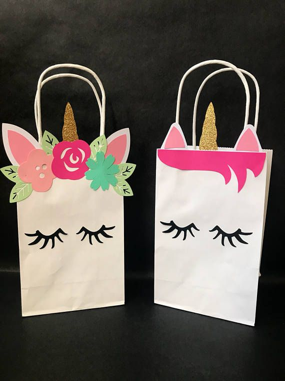 Unicorn Party Favor Gift Bags