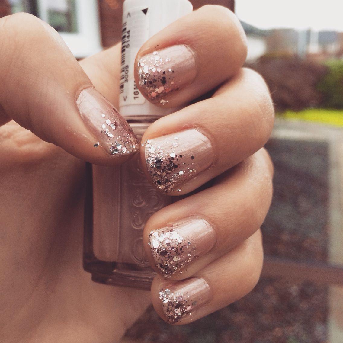 Essie\'s tea & crumpets with sparkles.   Nail Polish   Pinterest ...