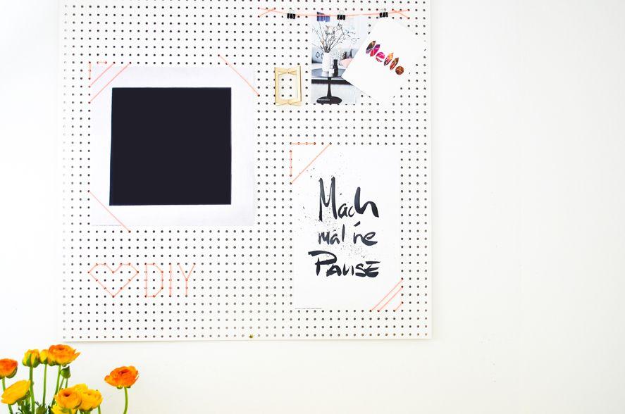 DIY pegboard for the home office / Die Lochwand aus dem Baumarkt wird zur Inspirationswand