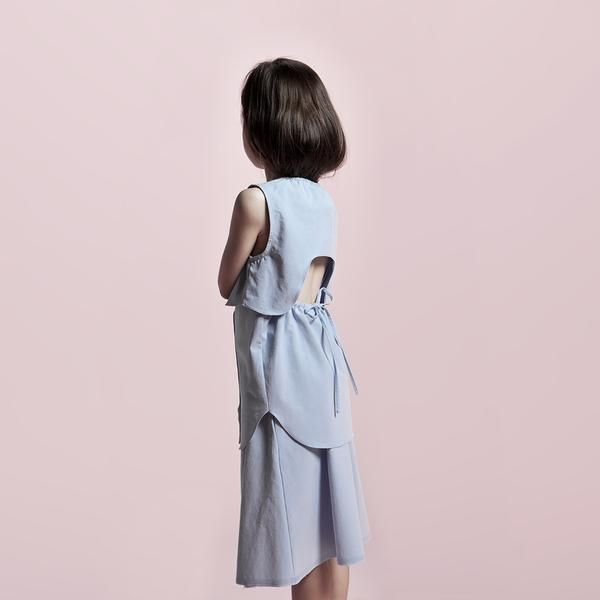 Chloe Raw-Edged Skirt, Dyed With Indigo Leaves (With