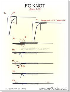 How To Tie The Fg Knot Animated Illustrated And Described Fishing Knots Fishing Tips Knots