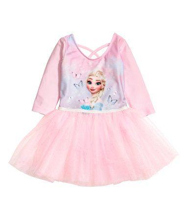 Kids H Tulle Dance With SkirtPinkfrozen Dress Us2 amp;m Y76fybg