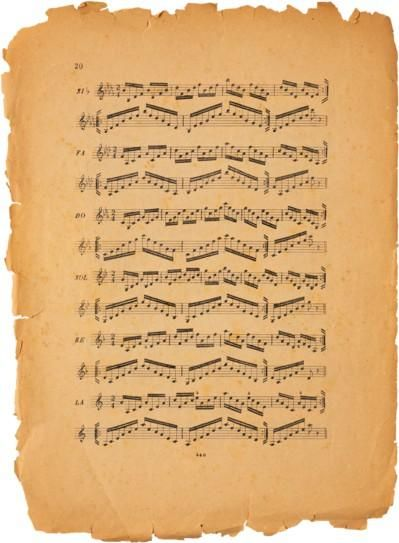 carta da musica da stampare