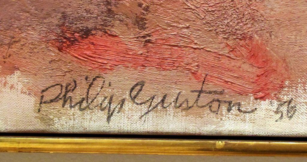 Philip Guston Artist Signatures Monogram Artist