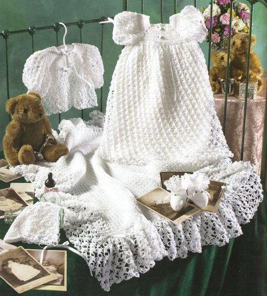 Crochet Baby Sweater Set,2114 - The Christening Clothes Factory ...