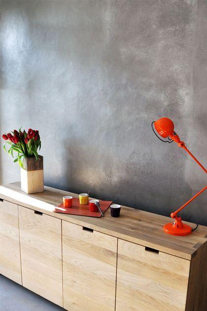 Béton ciré  quelle couleur choisir ? Salons - peinture beton cire mur