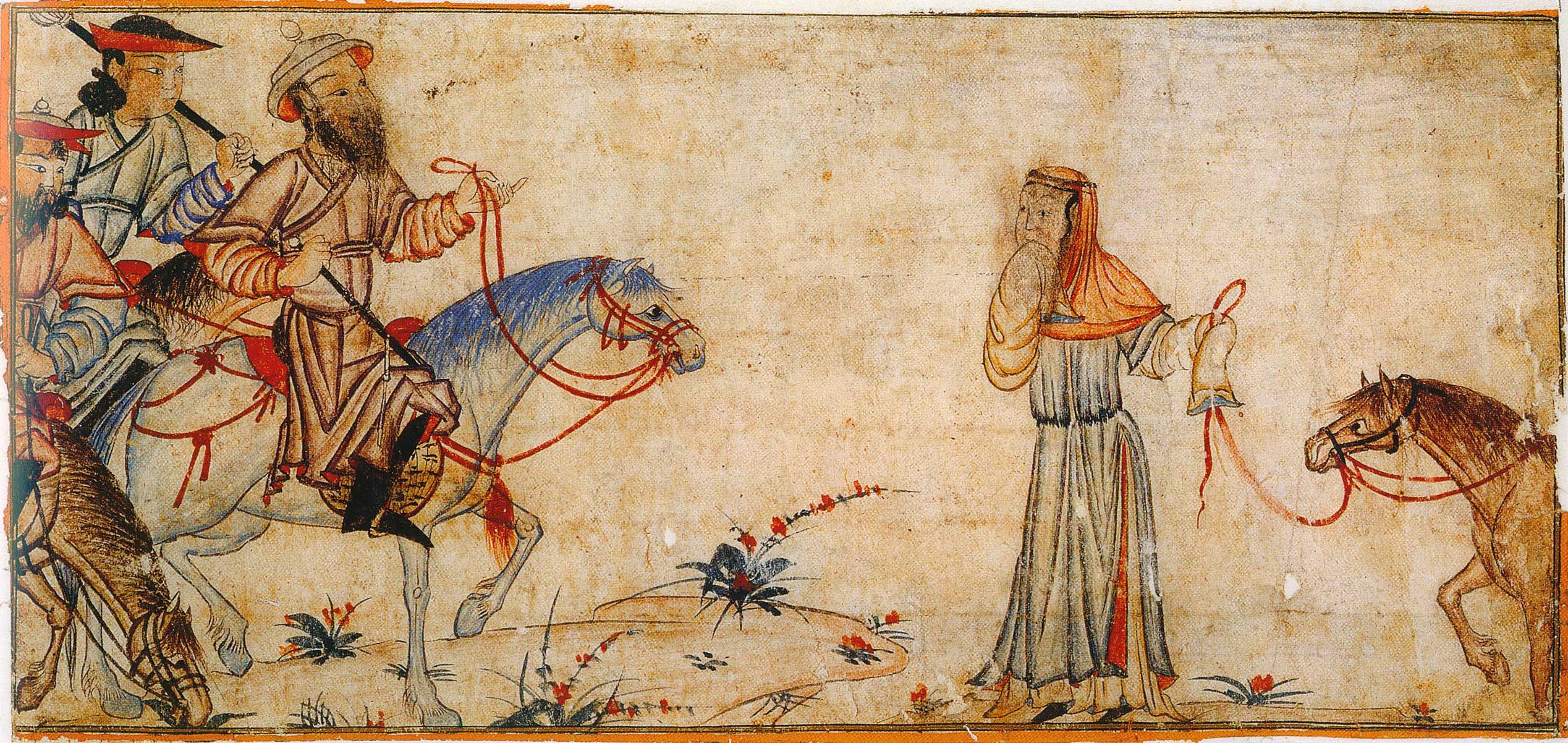 A woman complaining to the ruler. Illustrations of Ilkhanids in the Diez  Album, an early 14th century copy of Jami' al-Tawa…   Islamic paintings,  Illustration, Diez
