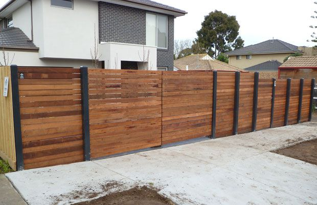 Merbau fence in hampton east driverway pinterest fences fence merbau fence in hampton east workwithnaturefo