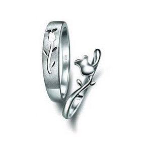 b93641ef6d305 Promise Rings for Couples | : 925 Sterling Silver Flower Couple ...