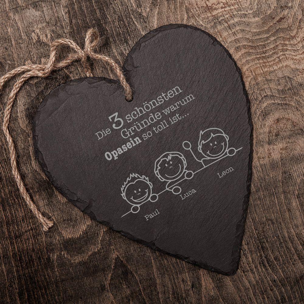 Schiefer Herz Gute Grunde Opa Personalisiert Coole Geschenke Fur Papa Schieferherzen Werdende Mutter Geschenk