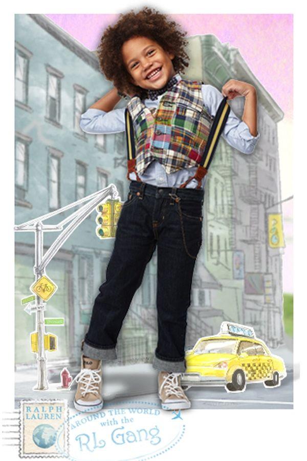 Ralph Lauren Childrenswear Patchwork Madras Vest Boys 4 7