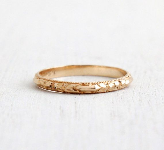 Antique 14k Yellow Gold Wedding Band Ring Art Deco 1930s Etsy Wedding Bands Vintage Antique Rings Wedding Band Gold Yellow 14k Yellow Gold Wedding Band