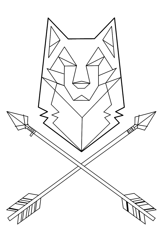 wolf tattoo geometric - Buscar con Google   Everthing   Pinterest ...
