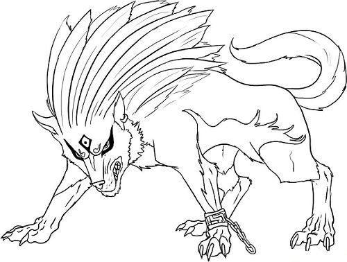 Anime Wolf kleurplaten   Tiervorlagen, Malvorlagen ...
