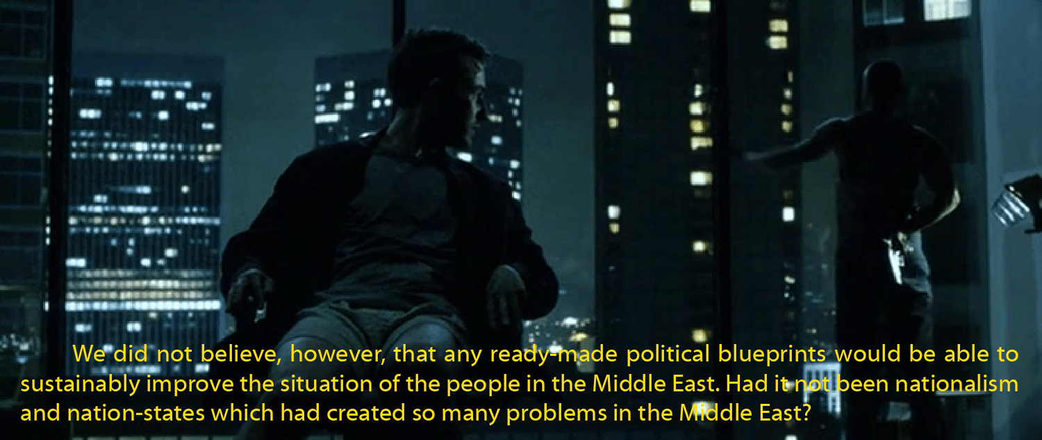 [#DemocraticConfederalism by Abdullah Ocalan and #FightClub from David Fincher - No copyright infringement intended - Reblog with link to http://www.mainstreamidea.com/mi/2015/09/02/ocalan-club-ii-9/]