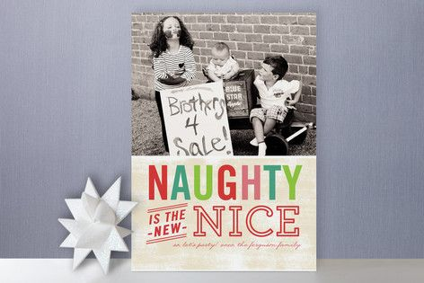 Naughty is the new nice card designed by jrtyn design for minted naughty is the new nice card designed by jrtyn design for minted m4hsunfo