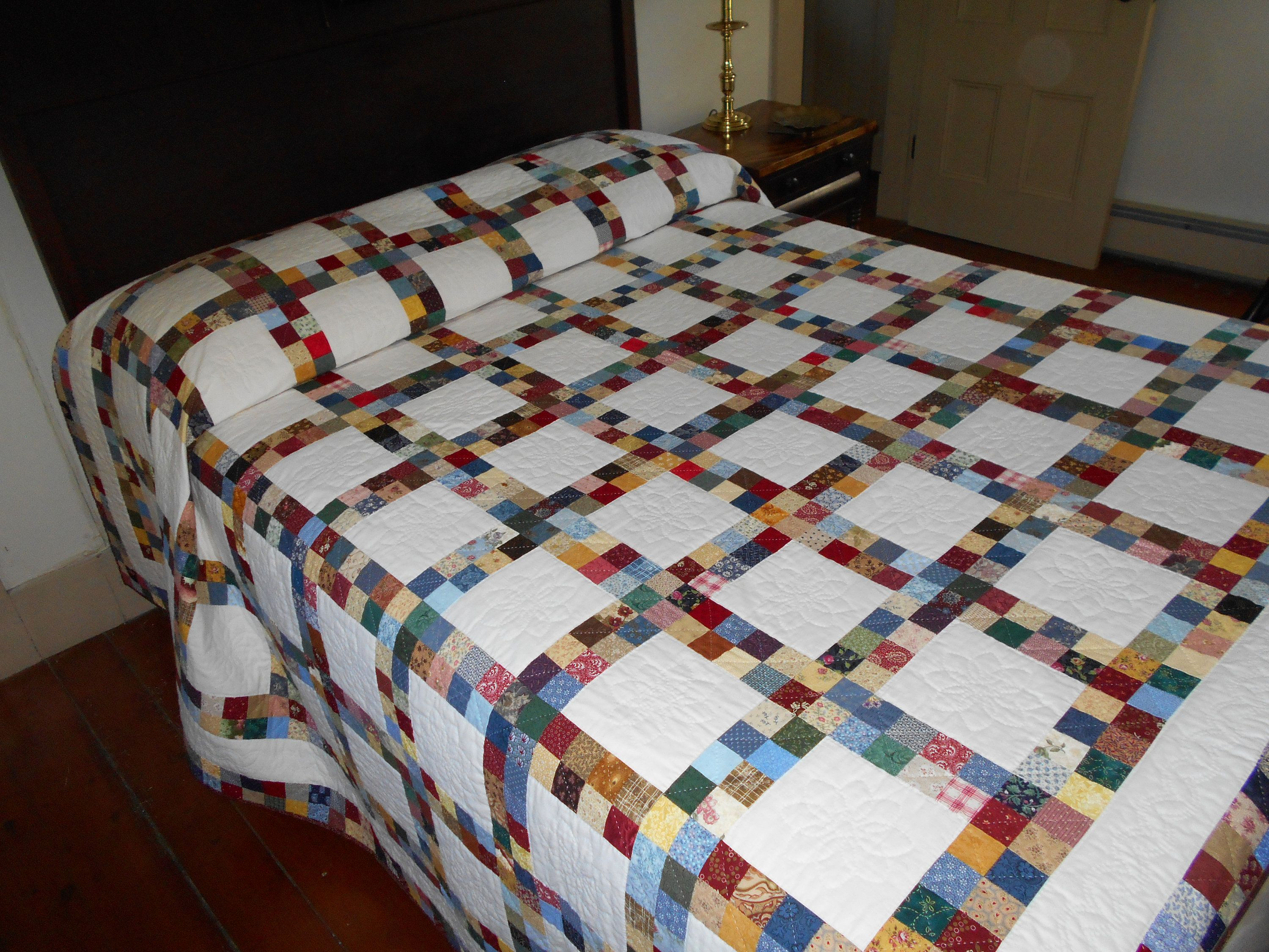 Postage Stamp Quilt From Pennsylvania Homemade