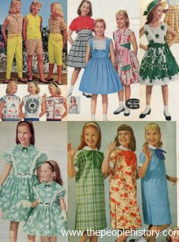 1950s Children S Fashion Part Of Our Fifties Fashions Section Peddle Pushers Identical Dr Childrens Fashion Vintage Childrens Clothing Fifties Fashion