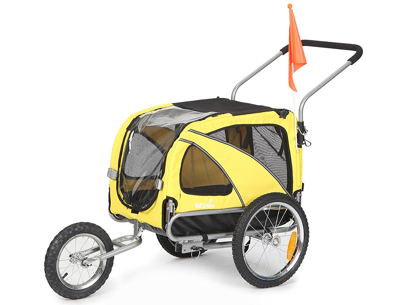 Sepnine 2 in1 medium pet dog bike trailer