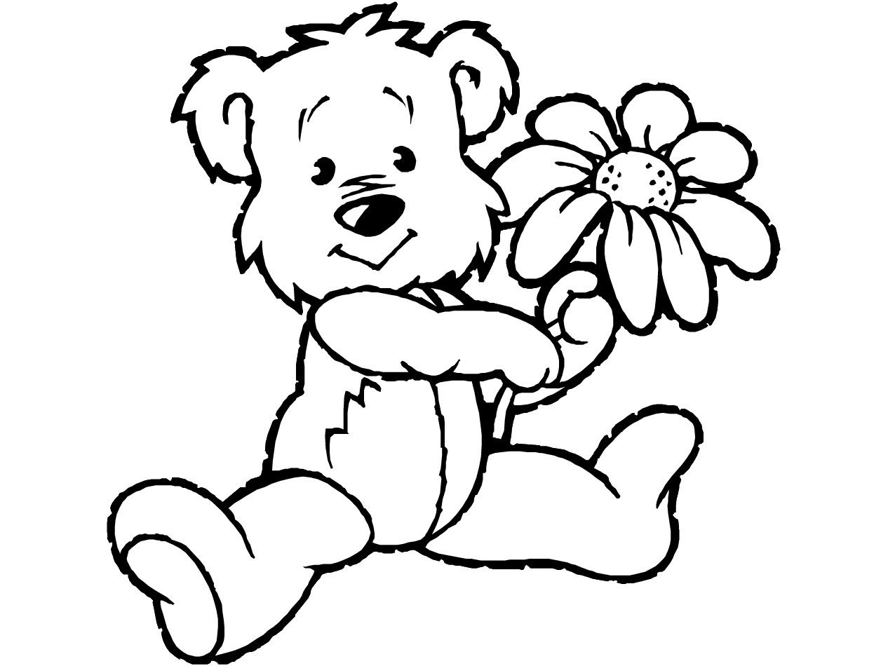 Teddy Bear Coloring Pages Theme Free Printable Teddy Bear