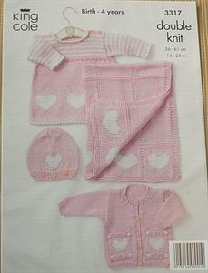4 different patterns  FREE POSTAGE Baby Double Knitting Patterns
