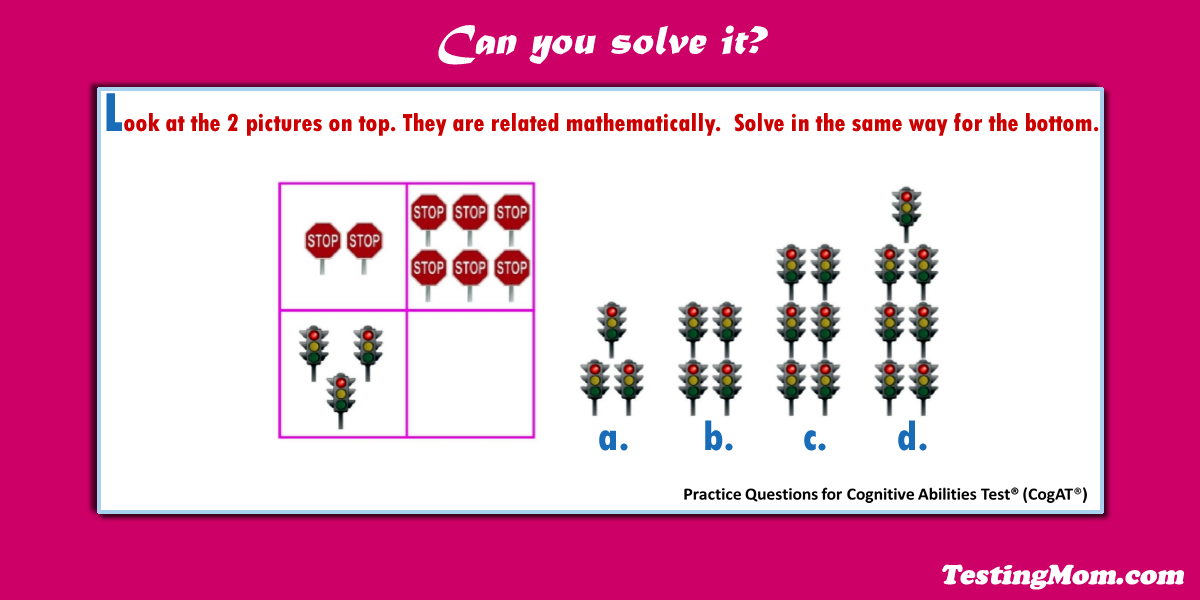 CogAT Number Analogies question   can your child solve it