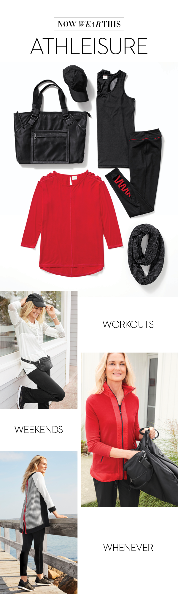 We are loving the athleisure trend right now and fully on board. Grab your comfortable-yet-chic leggings and tunics for a go-anywhere look.