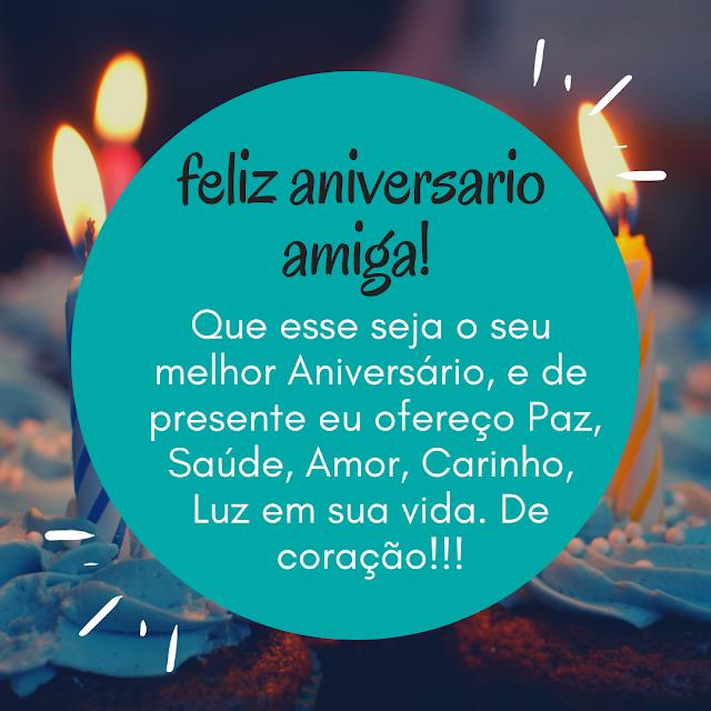 Feliz Aniversario Amiga - Mensagem de aniversário para amiga | Feliz  aniversário amiga, Feliz aniversário, Mensagem de aniversário
