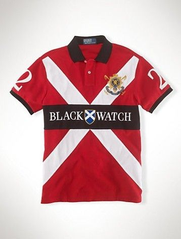 7b7af9c2ef1 Cheap Ralph Lauren Men Black Watch NO.2 Polo Shirts Red - Click Image to  Close