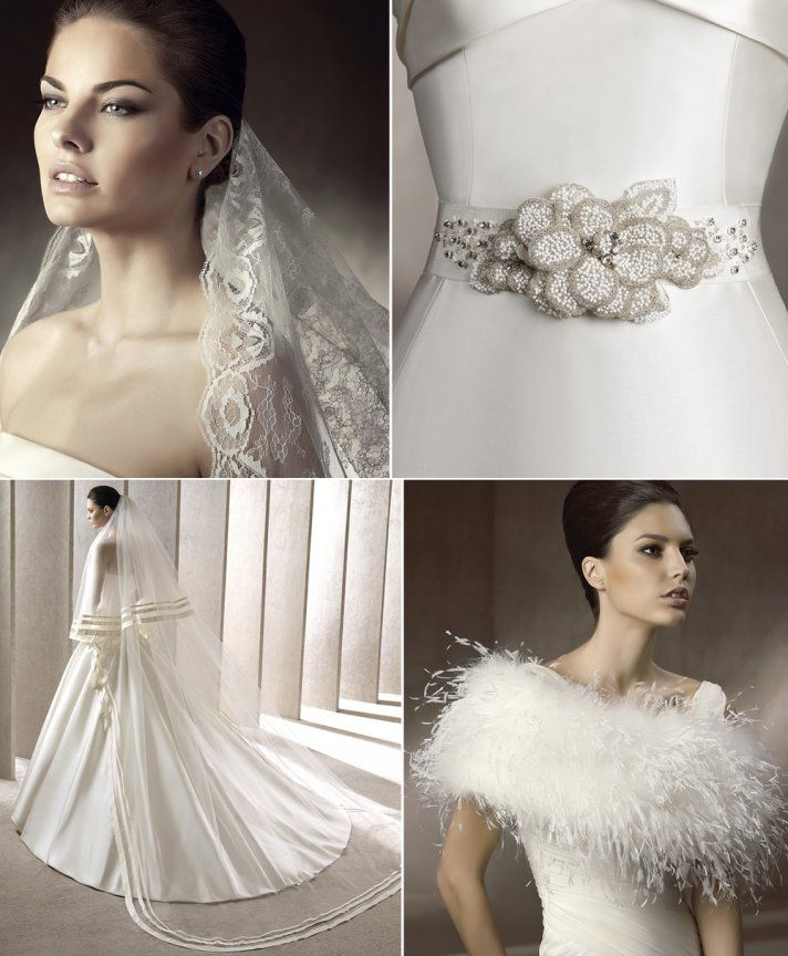 Pronovias Wedding Accessories Have Arrived! shawl cover up bolero for wedding dress