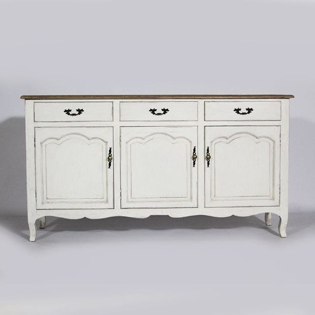 buffet regence 3 portes baroque blanc made in meubles prix avis notation livraison le. Black Bedroom Furniture Sets. Home Design Ideas