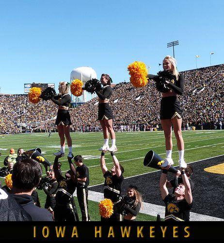 Iowa Hawkeye Cheerleaders Iowa Hawkeyes Cheerleaders Cheerleading Hawkeyes