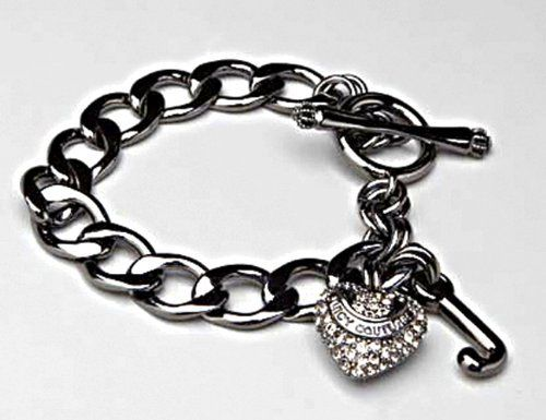 Juicy Couture Hematite Pave Heart Crystal Starter Charm Bracelet Yjru4098 Juicy Couture 39 99 Necklace Juicy Couture Bracelet Black Bracelets Charm Bracelet
