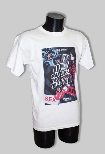 Rock Bazar T-shirt Vendita in anteprima. Sarà in vendita ufficialmente da settembre, ma ne abbiamo realizzate un numero limitato per i nostri Fan che potranno acquistarle da oggi in anteprima fino ad esaurimento.