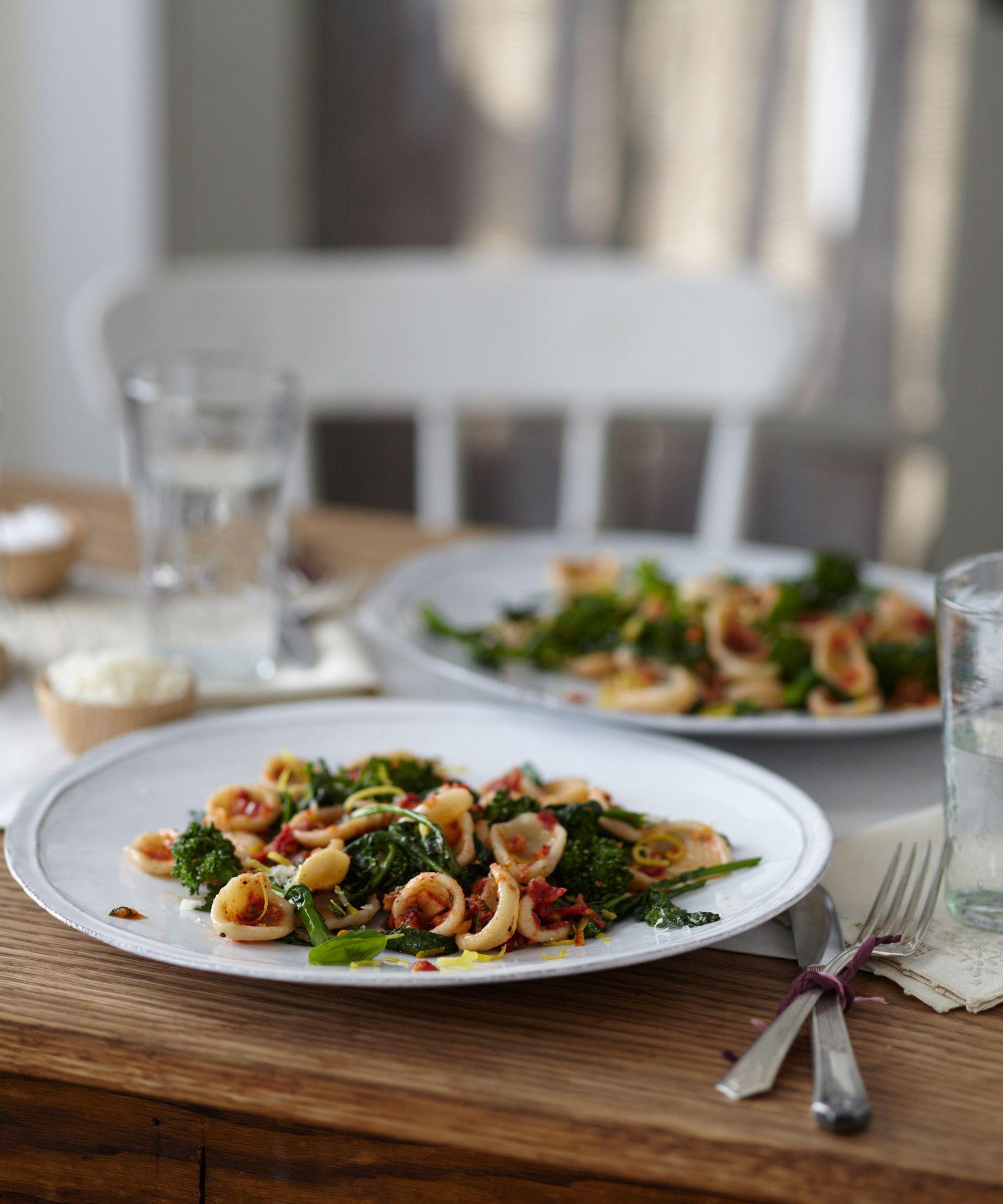 Simple Homemade Pasta + Broccoli Rabe + Sun-dried Tomato Pesto - Candice Kumai #vegan