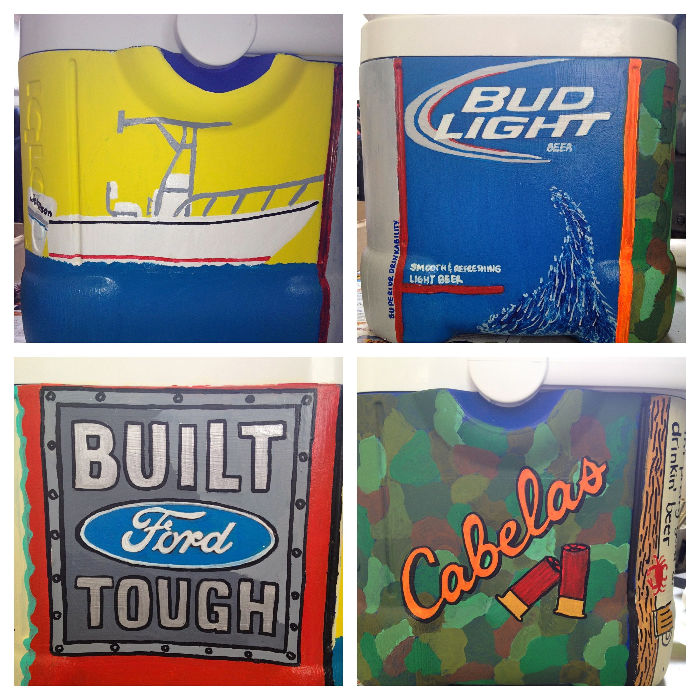 Pin By Justy Foxwell On Summer Projects Cooler Painting Sorority Crafts Cooler Designs