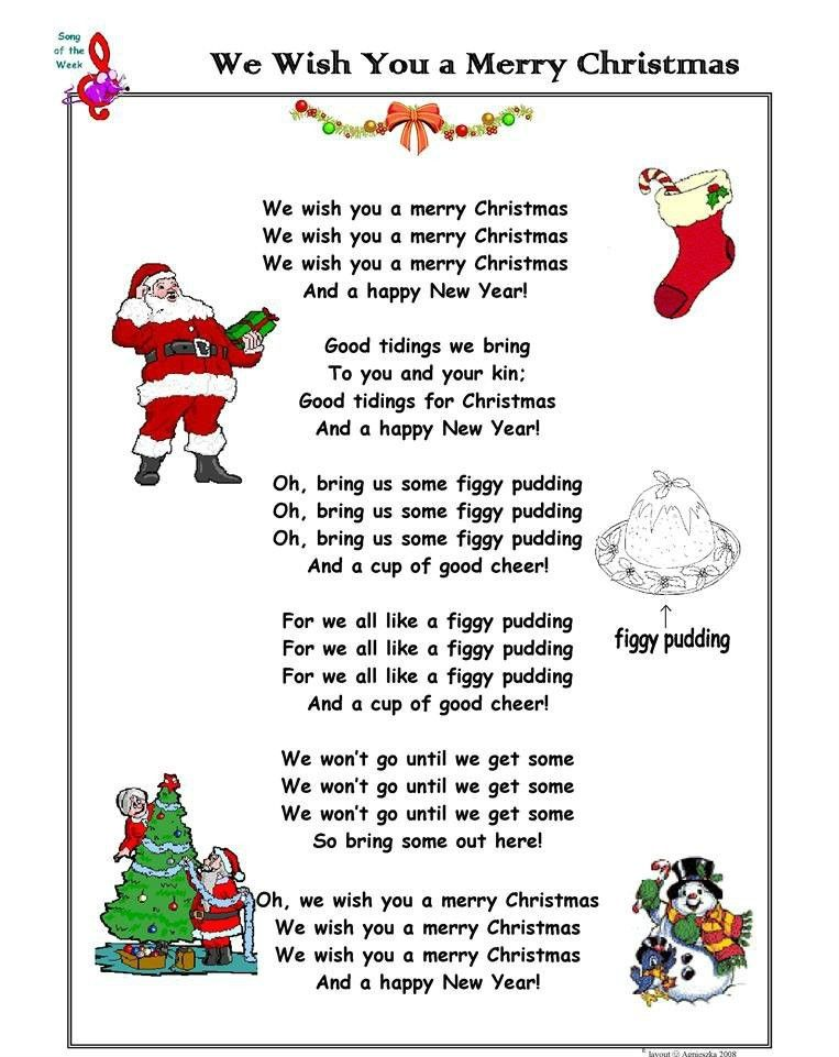 Merry Christmas Song Lyrics in 2020 Merry christmas song