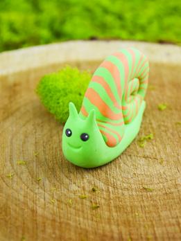 Pluffy Garden Snail | Snails in garden, Clay crafts ...