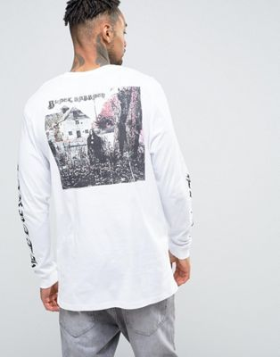 ASOS Black Sabbath Longline Long Sleeve Band T-Shirt With Sleeve Print And  Back Print